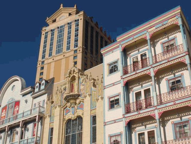 atlantic city facade of the casino