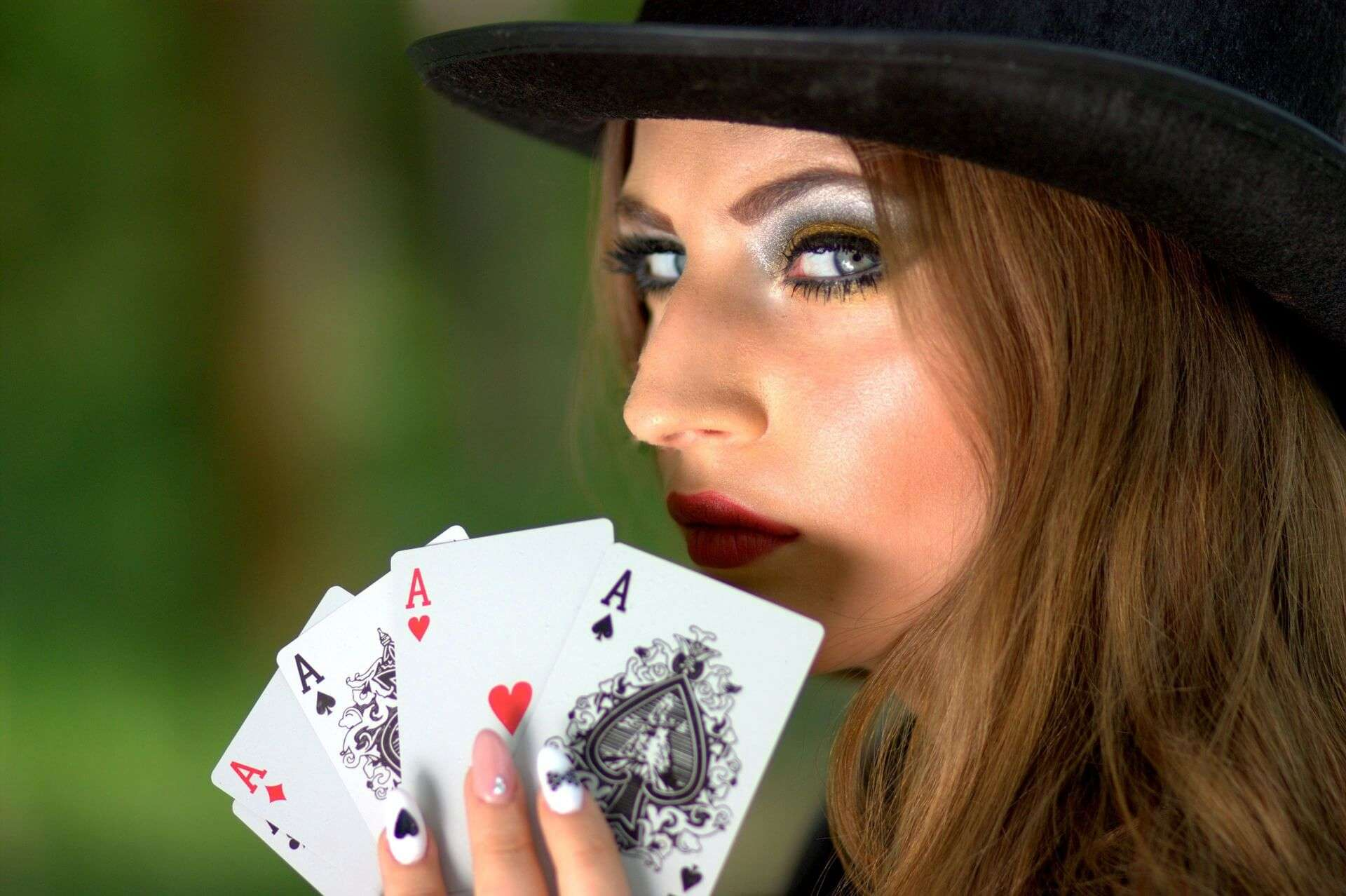 poker vrouw