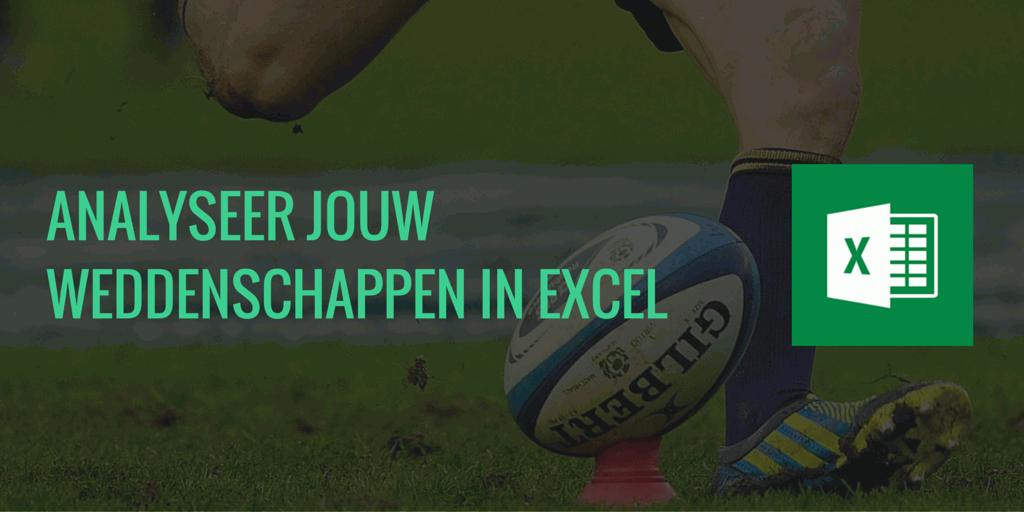 Krijg via Excel een overzicht van jouw weddenschappen