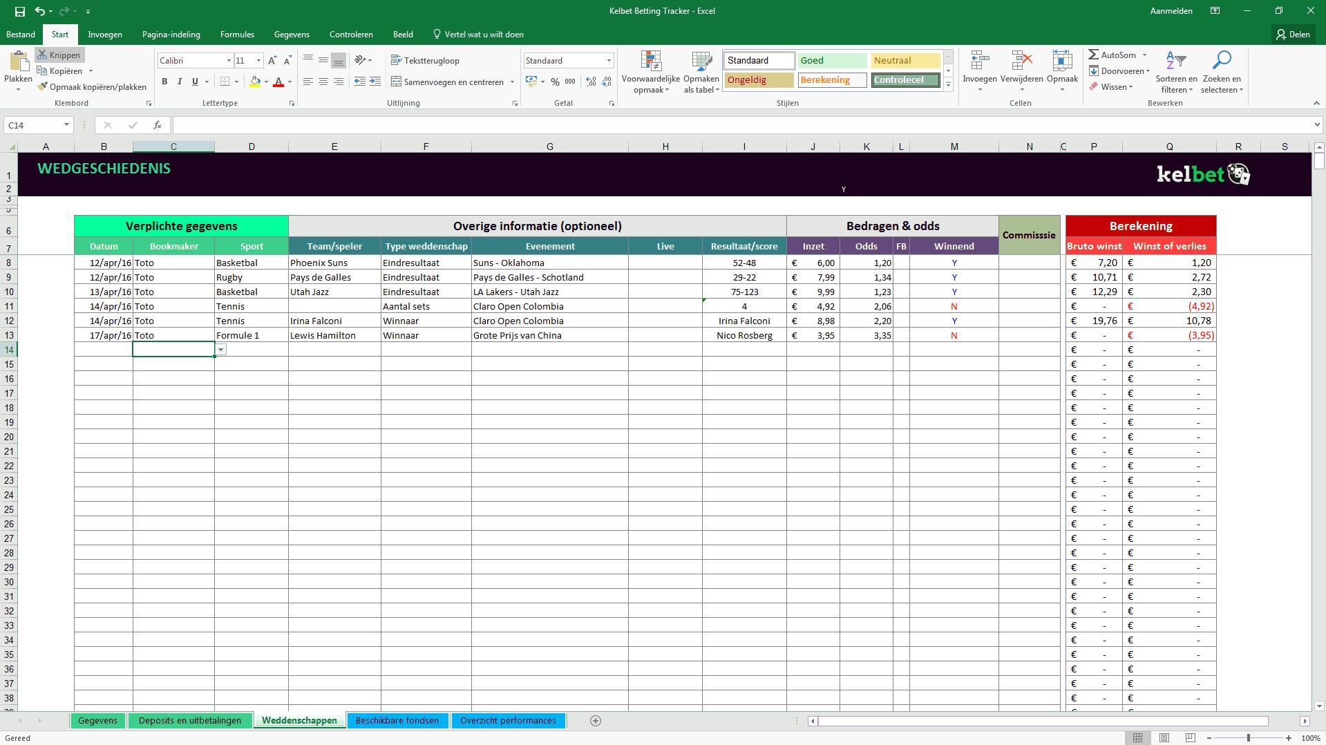 Kelbet betting tracker 3
