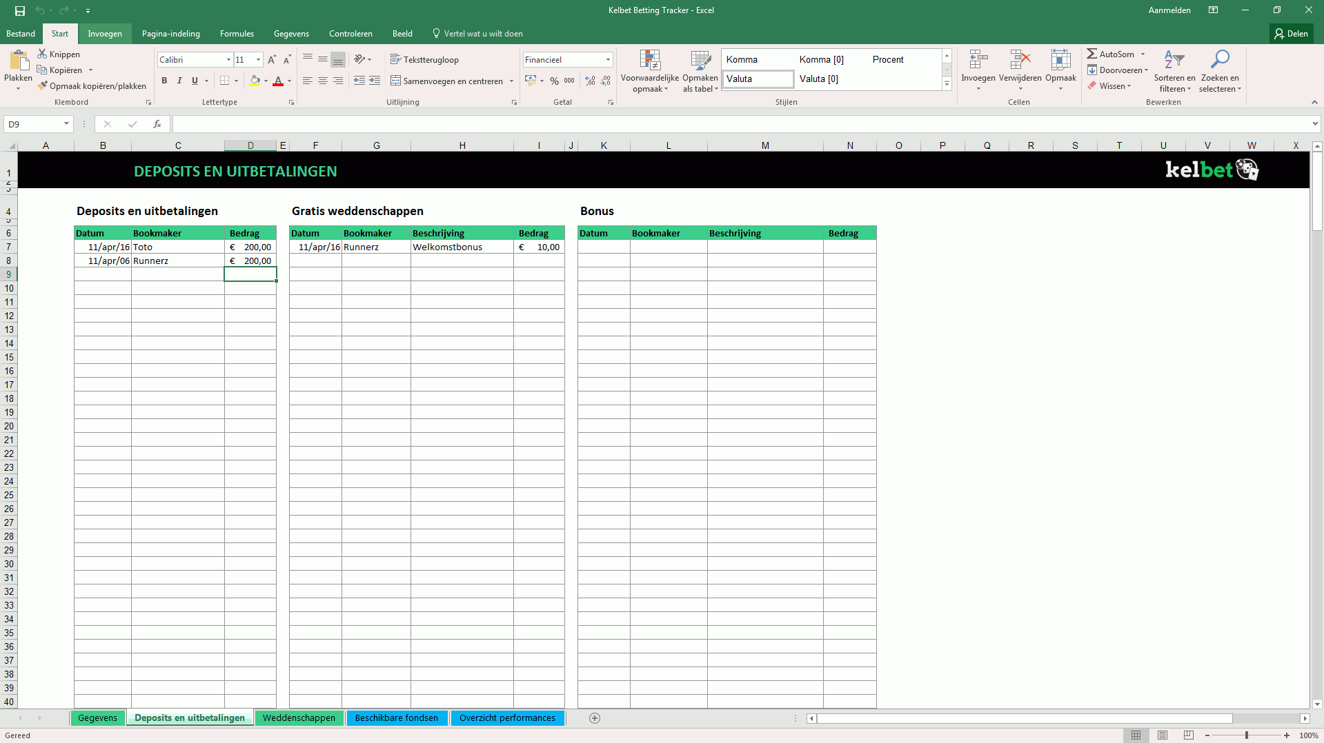 Kelbet betting tracker screenshot 2